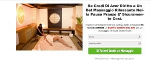Landing Page Massaggio